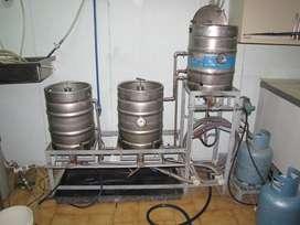 Equipo para elaborar cerveza de 50 litros en acero inoxidable