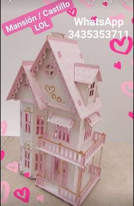 ️️ casa de muñecas MANSIÓN/CASTILLO LOL