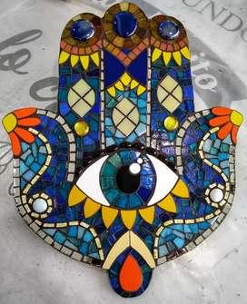 Cuadros, espejos, tutores, bandejas, y otros trabajos en mosaiquismo