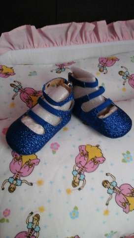Zapatos Azules Nuevo Talla 2