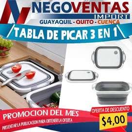 TABLA DE PICAR 3EN1 MULTIUSO