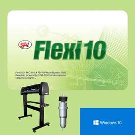 Programa Flexi 10 - Flexi 8 - Windows 10 Plotter de corte