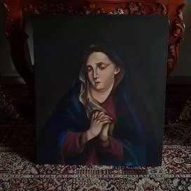 Pintura cuadro virgen dolorosa