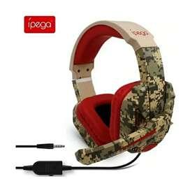 Diadema Gamer ípega R005 Con Microfono, los auriculares R005 con cable para Gamer PC, PS4, switch, PC, XBOX-one