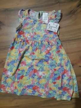 Vestido Zara Baby Importado Nuevo 9 Mese