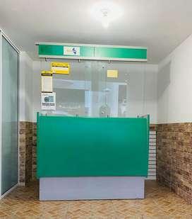 Módulo para caja - recepción - oficina