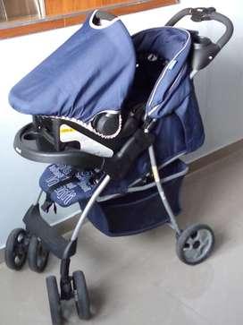Choche Bebe con Silla de Carro - Infanti