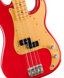 Bajo Fender Made in USA Vintera Presicion Bass con excelentes maderas y una excelente construcción y sonido, ORIGINAL.