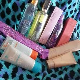 Perfumes, splashes, cremas