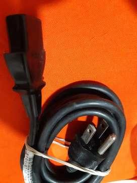 Cable de corriente o poder para PC monitor impresora de 3 entradas usado