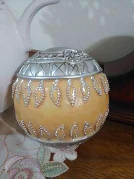 Bola decorativa plateada