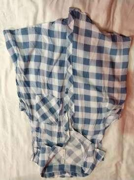 Blusa cuadros talla S