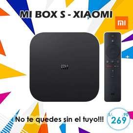 Tv Box Mi Box S De Xiaomi a un super precio S/.269.90 !! No te quedes sin el tuyo Incluye Control De Voz Y Chrome Cast.
