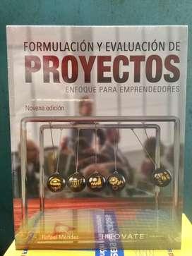 """Libro Nuevo - """"Formulacion y Evaluacion de proyectos... """" 9 Edicion."""