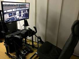 Mueble para simulador de vuelo o carros