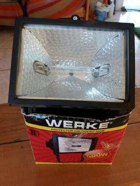 Reflector 500 Watts Halogeno con Cable