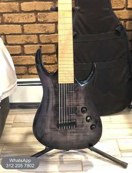 Guitarra Eléctrica, Agile Septor Elite 727 Mn Black Flame