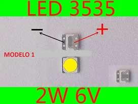 Foco Led Smd 3535 6v / 3v Televisores Lg 32, 42, 47 Y 50