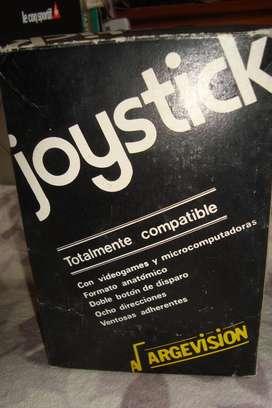 Joystick Argevision En Caja De Los Años 80