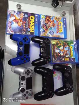 Colección de crash mandos PS4 play 4 y 40 juegos y 35 juegos PS3 play 3