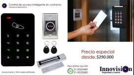 Control de acceso sin contacto automatización puertas