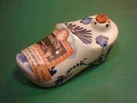 Botellin De Licor Rynbendes Zueco Porcelana De Delft