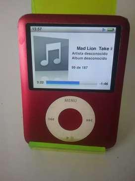 IPod nano tercera generación 8 GB rojo edición especial original Apple buen sonido buena duración