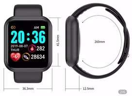 Increible reloj funcional, medidor de pulsaciones, recorrido realizado, notificaciones, calorias, resistente al agua.