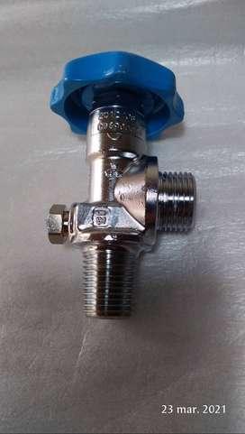 Válvula para cilíndro de gases industriales