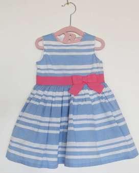 Vestido a rayas bebé Carter's - Talla 12 meses