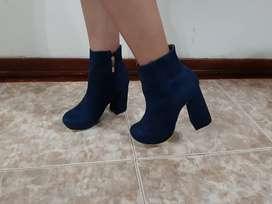 Botines talla 38 azul