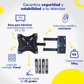 Soporte Tv Importado sirve para  Lcd Led Base 14' Hasta 55 '' 50kg Full