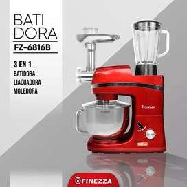 BATIDORA 3 EN 1 MARCA FINEZZA, BATE, LICUA Y MUELE.