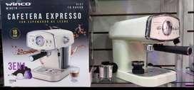 CAFETERA EXPRESS WINCO NEGRA O BLANCA