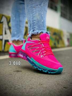 Zapato Tennis Deportivo Nike Airmax Para Mujer