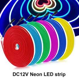 LED NEON FLEX 12V CINTA SILICONADA LUZ 6MM 12MM COLORES SUMERGIBLE AVISOS NEON DECORATIVO