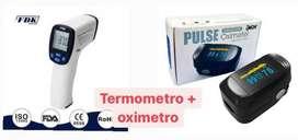 PACK OXIMETRO Y TERMOMETRO