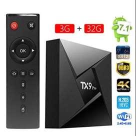 TV BOX TX9 DE 2 GIGAS DE RAM + 16 DE ALMACENAMIENTO SMART TV