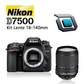 Camara Nikon D7500 lente 18-140mm, Nuevas, Factura, Garantia. Difierelo con tu tarjeta de preferencia 12 cuotas de 157.9