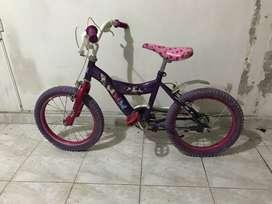 Bicicleta Minnie Mouse aro 16
