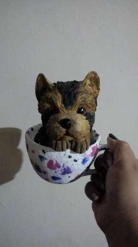Hermoso Yorkie en cerámica en venta $20.000