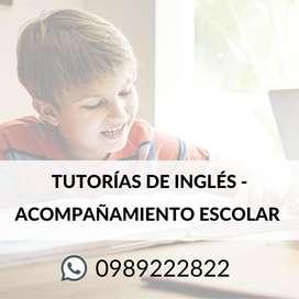 Tutorías de Inglés - acompañamiento escolar