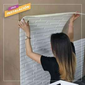 PARED 3D-PANELES AUTOADHESIVOS-PAREDES 3D-PANEL DECORATIVO