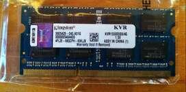 RAM DDR3 4Gb y 2Gb Kingston_Samsung_Corsair