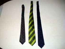 lote de 3 corbatas usadas lindas