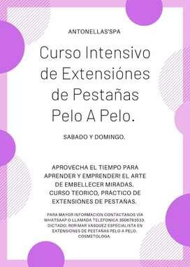 Curso de Extensiónes de Pestañas Pelo A Pelo.