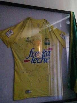 Cuadro camiseta atlético Bucaramanga autografiada