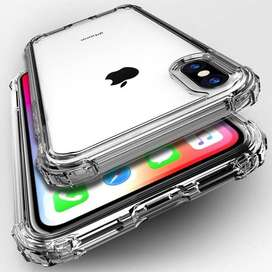 HARD-CASE TRANSPARENTE ANTI-SHOK SAMSUNG Y IPHONE