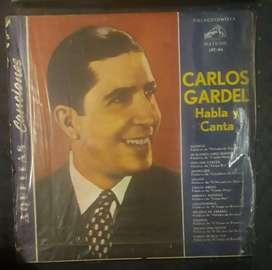 Carlos gardel habla y canta lp