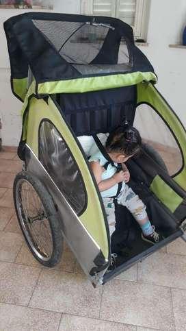 Trailer de bicicleta para niños